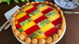 La tarte miroir de fruits de pasadena