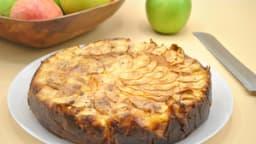 Gâteau au fromage et pommes
