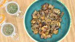 Champignons rôtis aux deux thyms