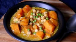Curry de patate douce et pois chiche