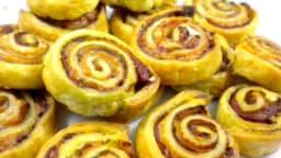 Escargots feuilletés au pesto et jambon de Parme