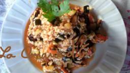 Risotto brun aux moules et courgettes