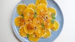 Carpaccio d'oranges à la cannelle