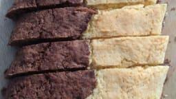 Biscotti parigini bicolori