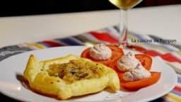Feuilleté de noix de Saint Jacques cuisinées au beurre