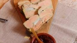 Pressé de foie gras aux pommes de terre et chutney de tomates