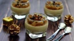 Panna cotta au foie gras, confit d'oignon et truffes