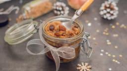 Confit d'échalotes et raisins secs