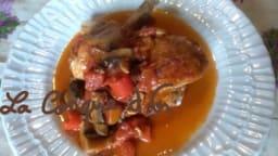 Poulet chasseur, à la sicilienne