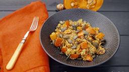 Poêlée au quinoa, potimarron et graines de courge