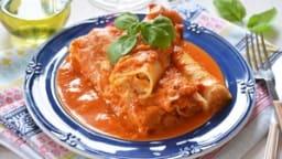 Cannellonis brousse et parmesan, coulis de tomates maison