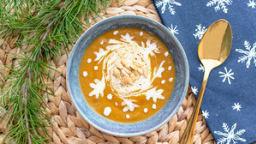 Soupe de châtaigne, panais et champignons