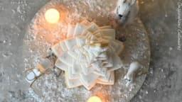 Sapin de Noël en biscuits en 3D