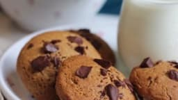 Cookies coeur coulant chocolat