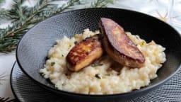 Risotto au champagne, foie gras poêlé