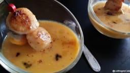 Verrines de noix de Saint-Jacques et crème de potiron