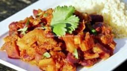 Tajine de courge, carotte et haricots rouges