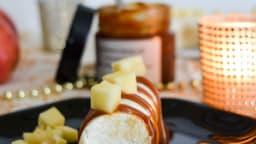 Buchettes bretonnes : pommes, palet breton, caramel au beurre salé