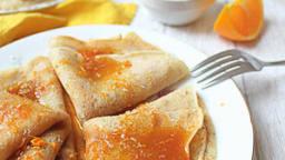 Crêpes au rooibos et sirop orange coco