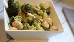 Blancs de poulet et brocolis