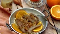 Aiguillettes de canard au miel et à l'orange