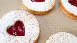 Les petits biscuits confiture spécial Saint Valentin