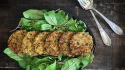 Galettes vegan de choucroute, lentilles et légumes