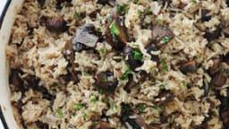 Riz aux champignons au four