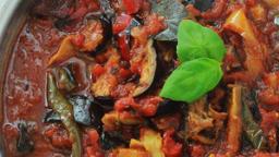 Sauce tomate aubergines et poivrons