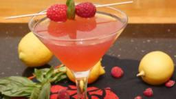 Cocktail Saint Valentin – basilic, framboise, citron