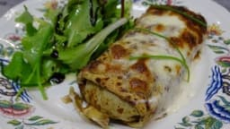 Ficelle picarde ou crêpe gratinée aux jambon et champignons