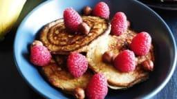 Pancakes healthy à la banane et flocons d'avoine