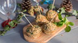 Mini muffins mâche et noix