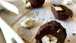 Truffes au chocolat fourrées au nougat et soupçon de piment d'Espelette