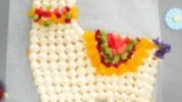 Mon gâteau lama d'anniversaire