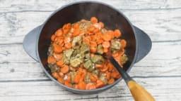 Cocotte de veau à la carotte