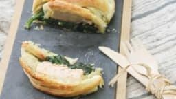 Feuilleté au saumon et épinard