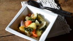 Poêlée d'endives, navets,carottes et chou kale