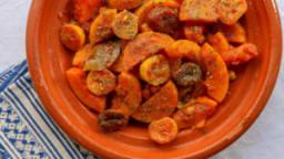 Tajine de courges citrons confits et abricots secs