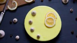 Entremet citron - noisette