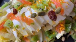 Salade d'endives et de saumon fumé