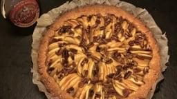 Tarte aux pommes, noix de pécan et sirop d'érable