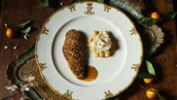 Bigarade de caneton, maltaise d'asperges