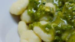 Gnocchi au pesto de pistaches