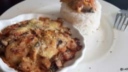 Saint Jacques gratinées aux poireaux, champignons,carottes et cidre