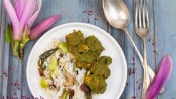 Aloo palak ou curry de patate douce aux épinards