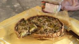 Quiche brocoli-champignons au miso