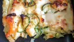 Lasagnes aux crevettes et courgettes