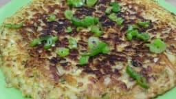 Galette de pommes de terre, courgette aux herbes de Provence
