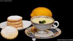 Lemon posset à la menthe fraîche